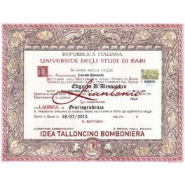 Talloncino Bomboniera Laurea