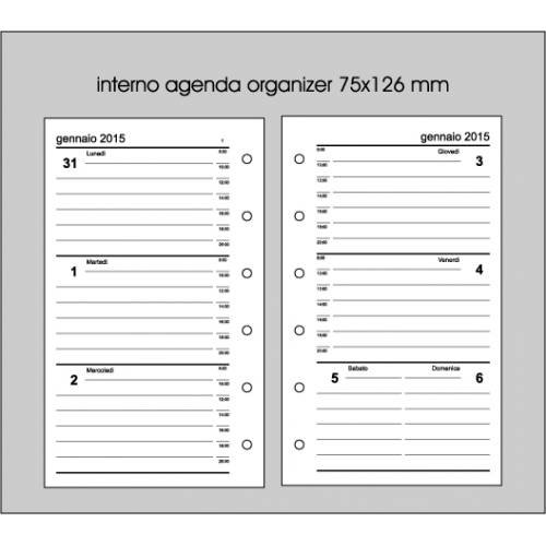 Eccezionale Organizer 2015 7x12 - stampatu.it SJ05